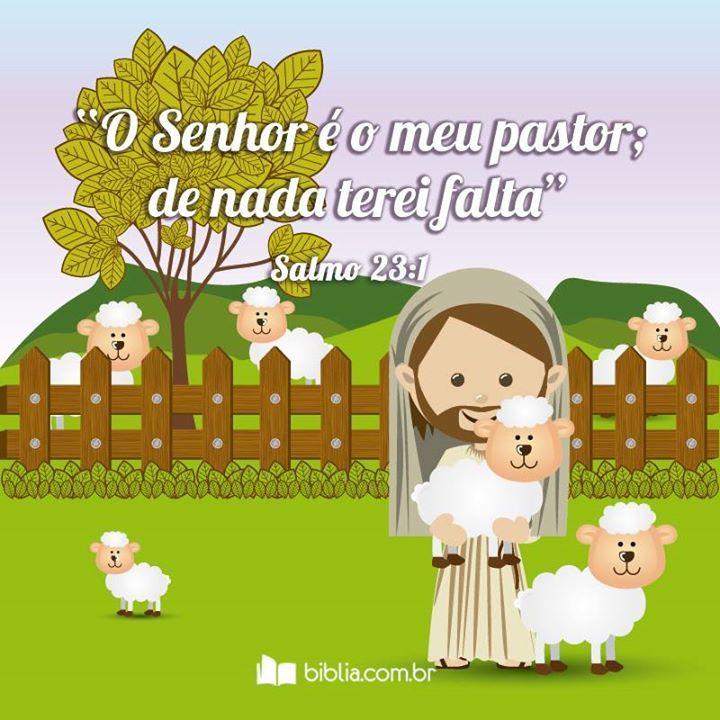 O Senhor é meu pastor e nada me faltará. #Pastor #Senhor #Ovelhas #Biblia #Salmos