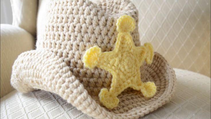 beautiful crochet cowboy hat - YouTube