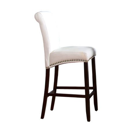 found it at wayfair parsons barstool with nail heads in white http