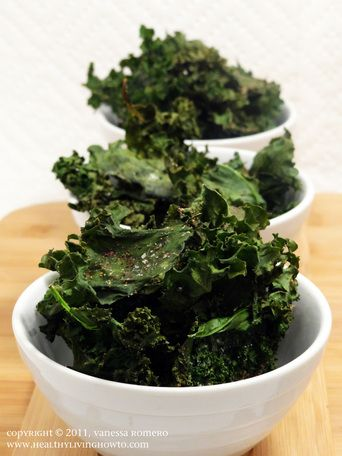 Kale Chips. I had a bunch of leftover Kale from making Zuppa Toscana ...