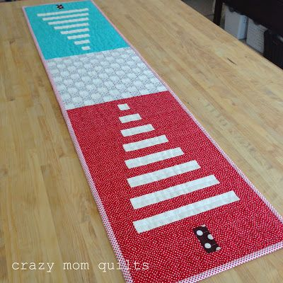 trees! table runner - crazy mom quilts