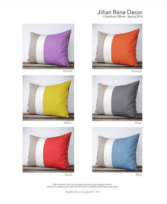 CUSTOM Colorblock Pillow Cover  Modern Spring by JillianReneDecor, $60.00