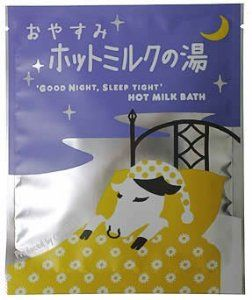 "OYASUMI Hot Milk Bath (bath additive) by CHA-RI-. $28.81. Size: 150 * 120 (mm). Japanese retail packaging ( Manual and instruction, if any, are in Japanese only. ). ""OYASUMI Hot Milk Bath (bath additive)"" is a bath essence that is made from a blend of honey, chamomile, job's tears, and natural salt Tea bag tsumekomu milk component (Skim milk) to Skin care. You can enjoy aroma bath filled with rich fragrance in your home bath. Preservatives, Food coloring, coloring are not used."
