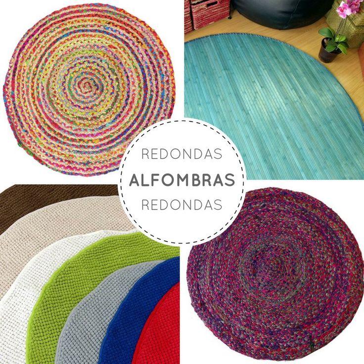 Mosaico de alfombras redondas