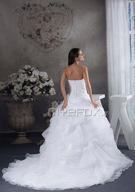 Abito da sposa Tessuto di raso tromba grande coda pizzo perline senza maniche http://www.myefox.it/abito-da-sposa-modello-tromba-senza-maniche-modello-tromba-grande-coda-pizzo-perline-p-143257 http://www.myefox.it
