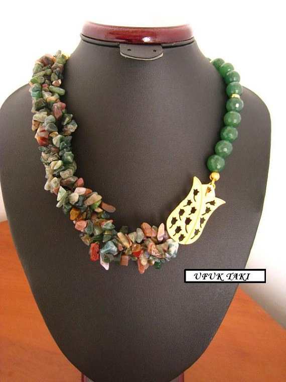 natural stones necklace by UfukTaki on Etsy, $60.00