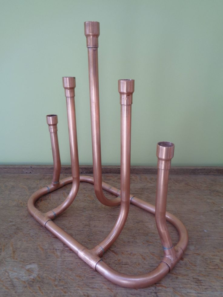 Copper Candle Centrepiece by CopperandMason on Etsy