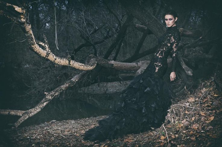 """Season of the Witch"" —  Photographer: Greg Daniels  Designer: Stephen Goudeau  Hair/Makeup: Jamie Fawn  Model: Dakota Luevanos @ The Dragonfly Agency  Photographer's Assistant: Krystal Hills  Hair/Makeup Assistant: Chris Luevanos  Assistants: Jennifer Hills, Ke Chau    #DarkBeauty #DarkBeautyMag #fashion #photography"