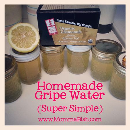 All natural gripe water for baby using fresh ingredients