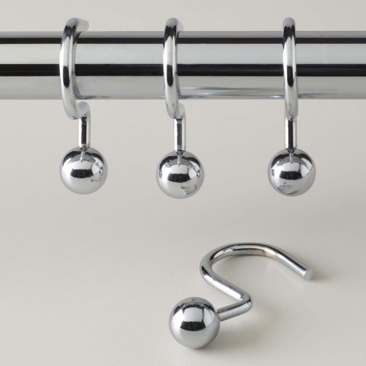 Awesome Shower Curtain Ring Ideas ~ http://www.lookmyhomes.com/choosing-appropriate-shower-curtain-ring/