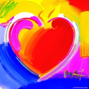 Peter Max - The heart