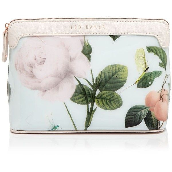 Ted Baker Cosmetic Case - Mishely Rose Print ($38) ❤ liked on Polyvore featuring beauty products, beauty accessories, bags & cases, bags, makeup, beauty, makeup bags, toiletry bag, dop kit и floral cosmetic bag