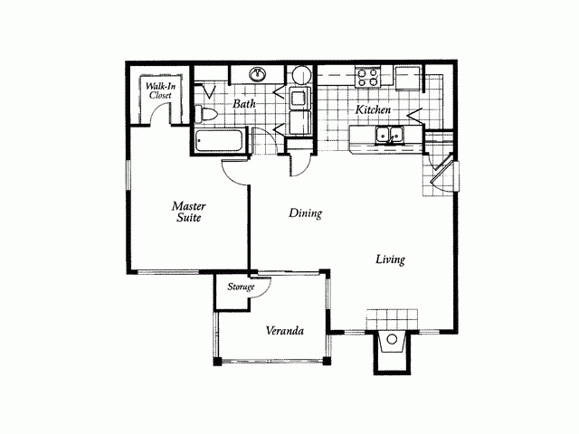 This is a floor plan for an apartment but i love it for a for Retirement apartment plans