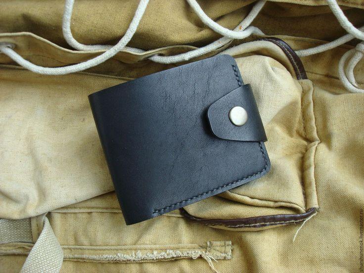 Купить Кожаный кошелёк - черный, кошелек, кошелек кожа, кожаный кошелек, портмоне, кожаное портмоне