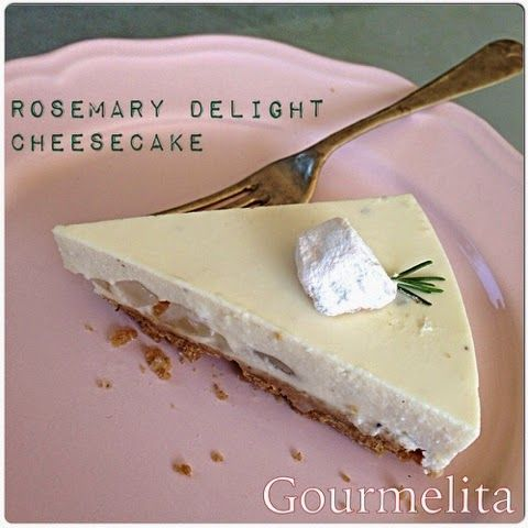 Gourmelita: Rosemary Delight Cheesecake