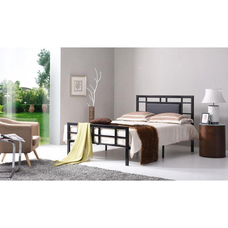 Best Hodedah Black Twin Upholstered Bed Hi826 T Black 400 x 300