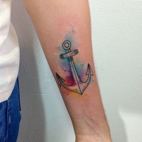44 best color anchor tattoos images on pinterest anchor tattoo design anchor and nautical tattoos. Black Bedroom Furniture Sets. Home Design Ideas