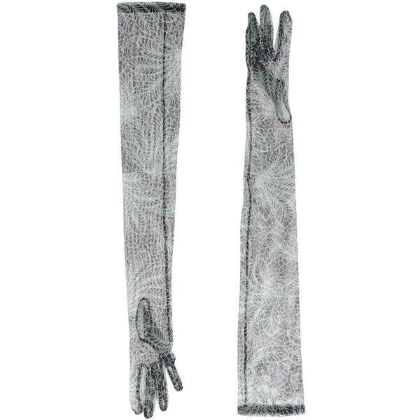 Dries Van Noten Gloves (220 AUD) ❤ liked on Polyvore featuring accessories, gloves, green, green gloves and dries van noten