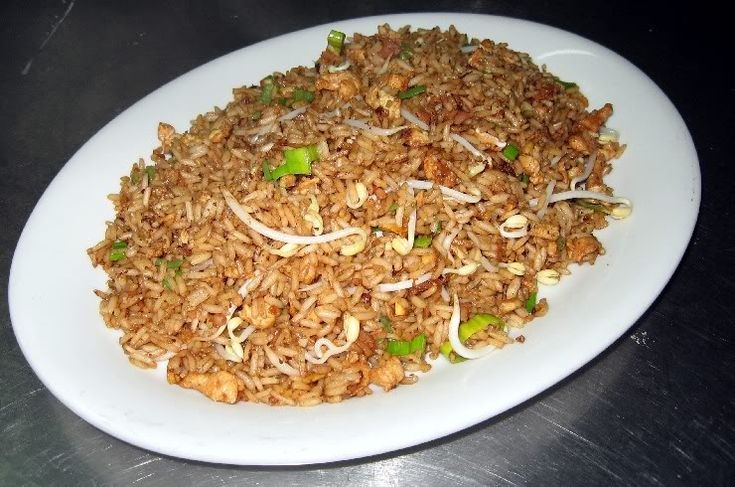Comida china - Arroz salteado con pollo