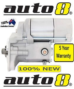 STARTER MOTOR TO SUIT TOYOTA HILUX 2.8L (3L) & 3.0L (5L) DIESEL 1985 TO 2005 2.4 5 YEAR WARRANTY 3L 5L 2L DIRECT REPLACEMENT  For this item, the seller provides: eBay Premium Service Seller information auto8 (10020 ) 99.8% Positive feedback See other items Visit store: auto8 AdChoice - opens in a new window or tab Item Information Item condition: Brand New Compatibility: See compatible vehicles Quantity: 792 available / 353 sold Price: AU $122.00