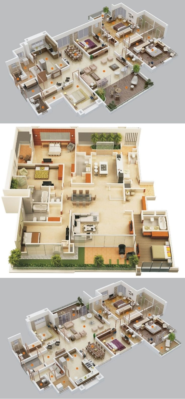 4 Bedroom Apartment/House Plans |Source: Privie World