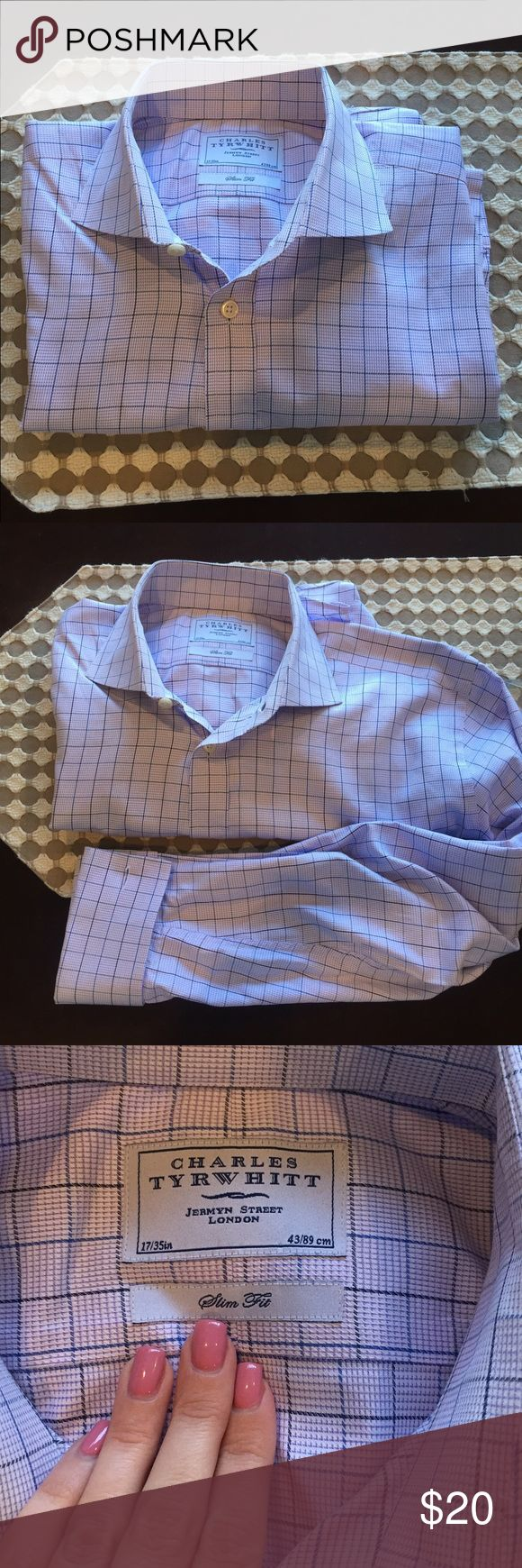 Men's Charles Tyrwhitt French Cuff Shirt Excellent condition Men's French cuff dress shirt 17in neck 35in charles tyrwhitt Shirts Dress Shirts