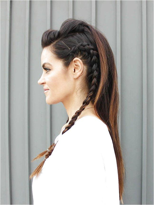 Faux Hawk Hair Tutorial Glam Latte #FineHaircutStyles Click for further informat…