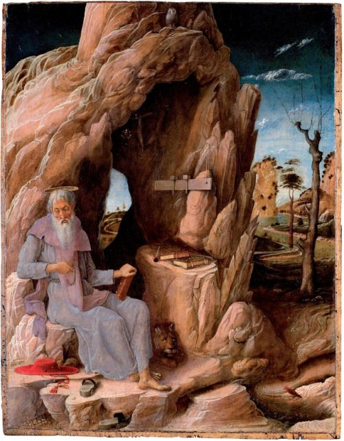 Andrea Mantegna - Saint Jerome in the Wilderness. 1448 - 1451