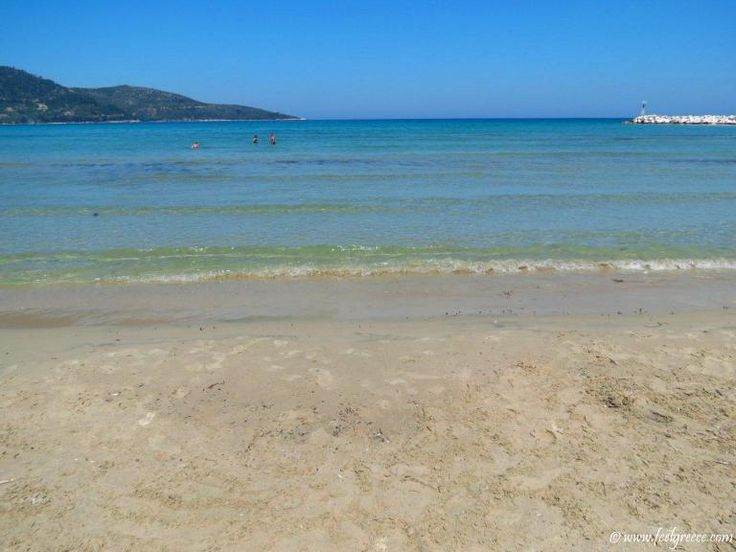 Skala Potamia, Thassos Island - popular resort with family hotels and sandy beach