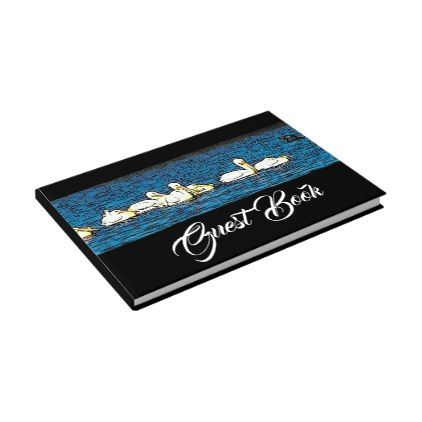 White Pelican Birds Wetlands Wildlife Guest Book - guest gifts gift idea diy personalize