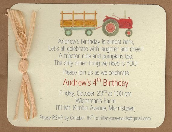 TRACTOR with or without WAGON & PUMPKINS  by BabadooStationery, $15.00