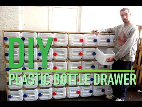 DIY Upcycled Plastic Bottle Drawer Storage System -