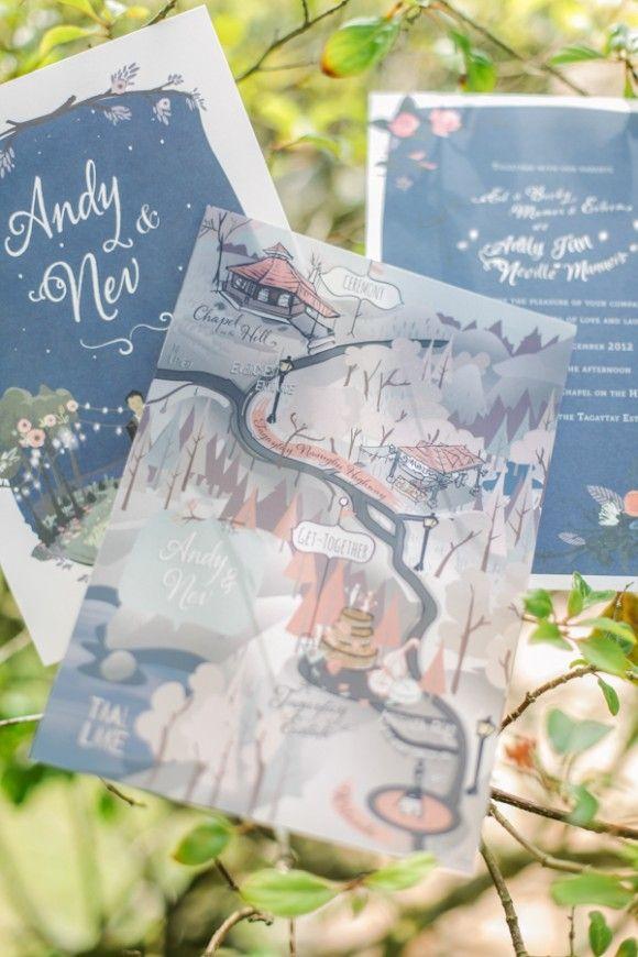 Handmade wedding invites   A Beautiful Tagaytay Wedding From Foreveryday Photography