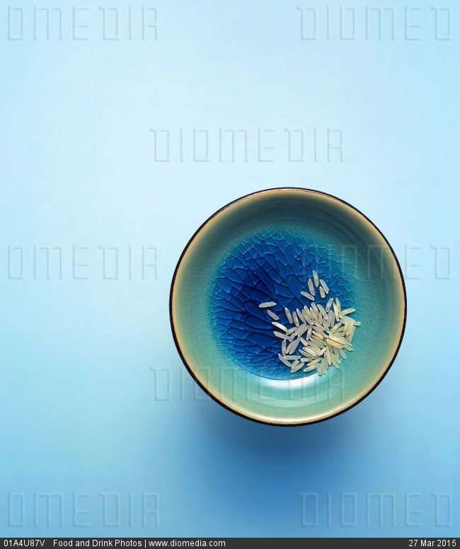 Bowl with rice - stock photo