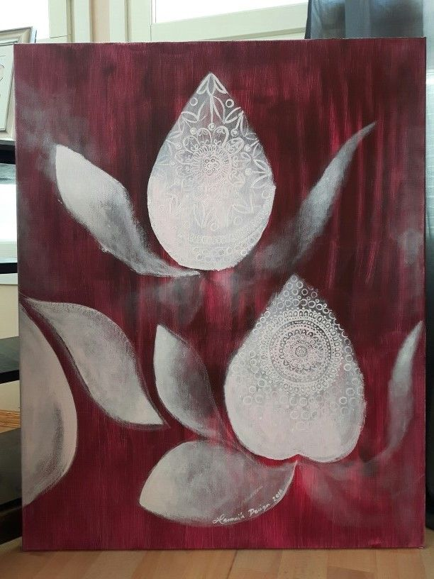 Acrylic painting by Hammi´s Design. Lace Flowers <3