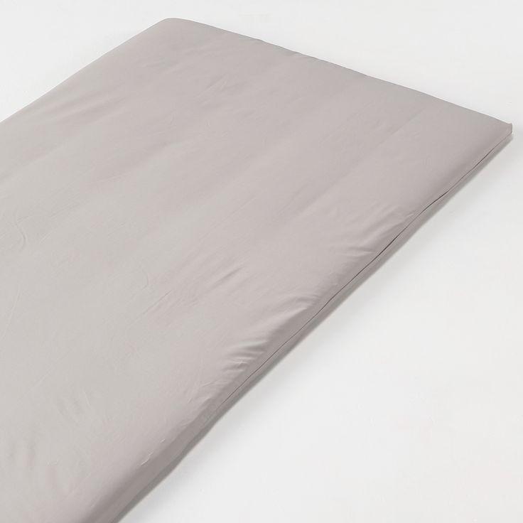 インド綿高密度サテン織ホテル仕様敷ふとんカバー・S/グレー 100×200~210cm用 | 無印良品ネットストア