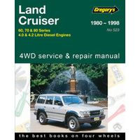 Toyota Landcruiser Diesel Workshop Repair Manual 1980-1998 with MPN GAP05523