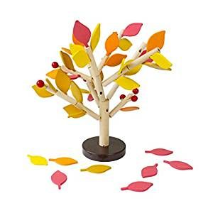 Wooden Jigsaws, Netspower Educational Puzzle Game Toy Set For Boys Girls Security Wooden Toys for Baby & Toddler Toys - Colorful Leaves Inserted Puzzle Matching: Amazon.co.uk: Toys & Games