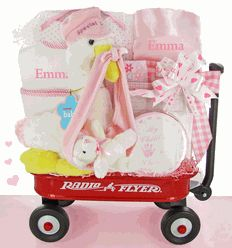 36 best personalized baby girl gifts images on pinterest baby gift personalized baby gifts here comes the stork wagon gift set for negle Gallery