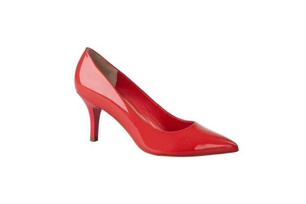 Zapato taco rojo tipo charol primavera verano 2013 2014