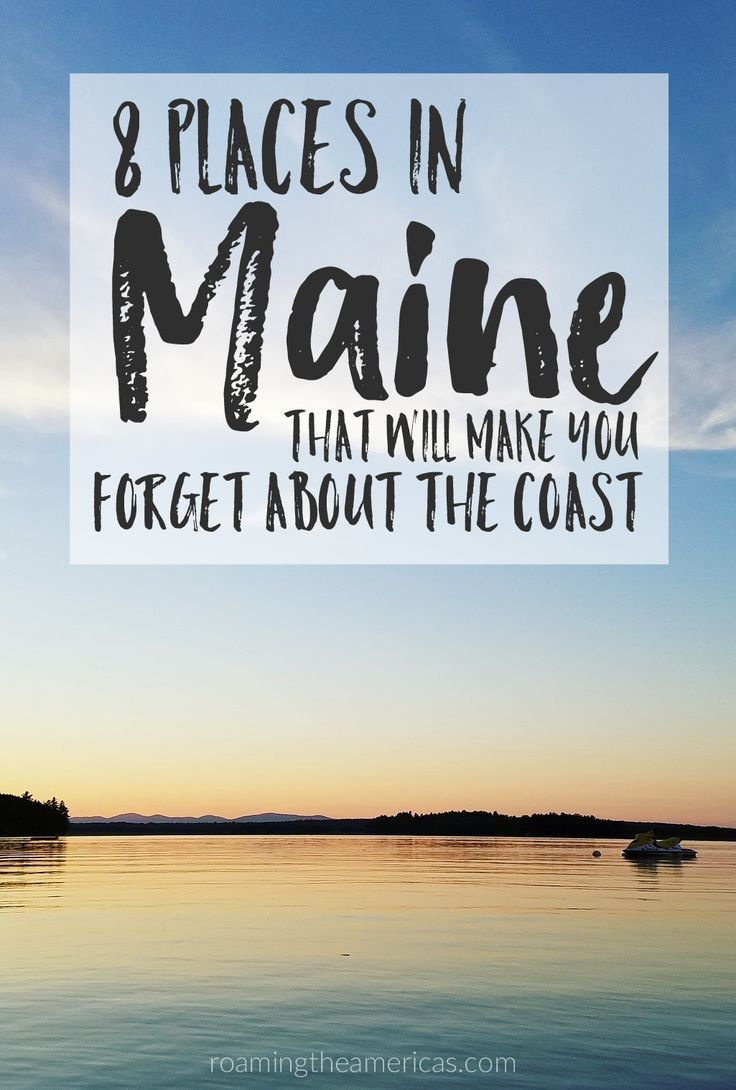 Looking for the best things to do in Maine? If you're craving a quiet, off-the-beaten-path adventure, check out this local's guide for 8 of the best spots in central and western Maine!  New England travel | Maine vacation | nature and outdoor adventure @roamtheamericas