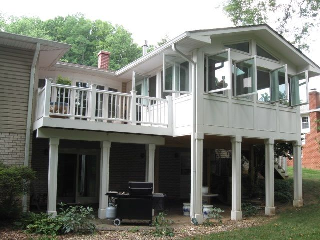 This 4 season room and custom deck by archadeck of for 4 season porch