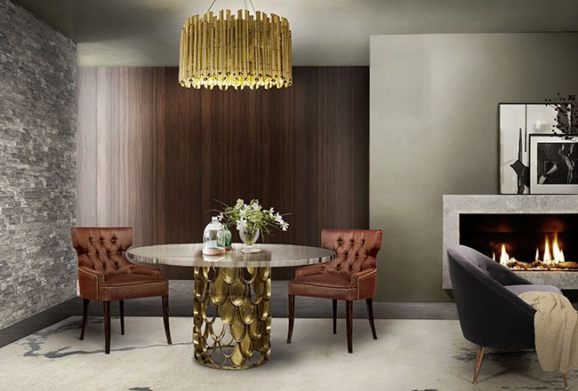 Brabbu | Dining room sets: dining room chairs with Koi dining room table and dining room lamps suspended. Beautiful dining room ideas | See more at diningroomideas.eu