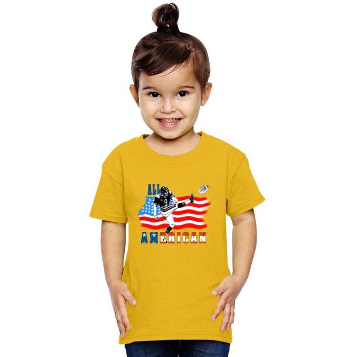 All American Football Field Goal Kicker Toddler T-shirt