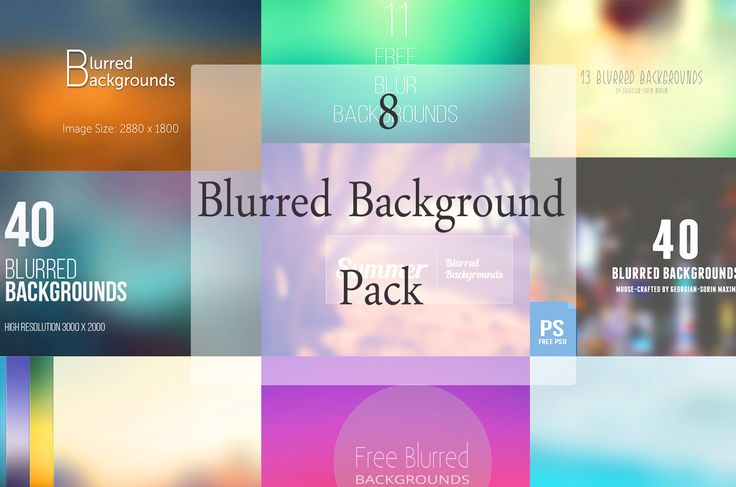 Download 8 Blurred Background Pack Gratis