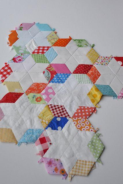 6 point diamond paper piecing