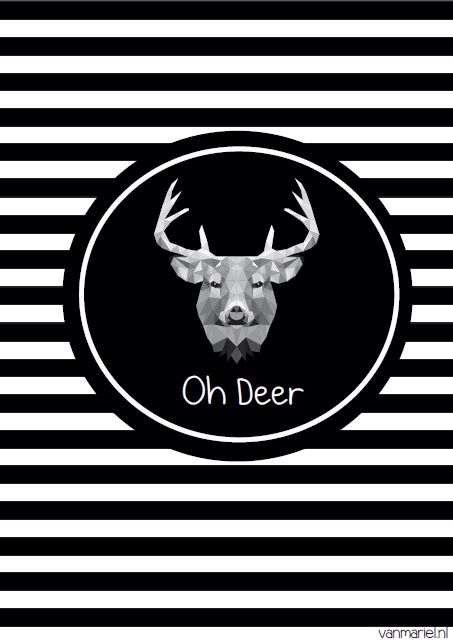 Oh deer - #Deer - #rendier - #hert - Buy it at www.vanmariel.nl - Poster € 3,95 - Card € 1,25