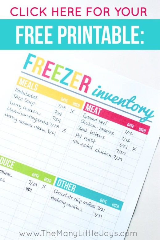 The 25+ best Freezer inventory printable ideas on Pinterest Meal - inventory list