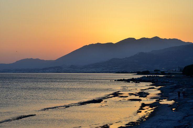 Sunset in Limanakia, Ierapetra, Crete ,Greece