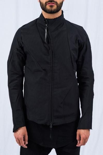 LEON EMANUEL BLANCK - Black Distortion Ramie Aviator Jacket